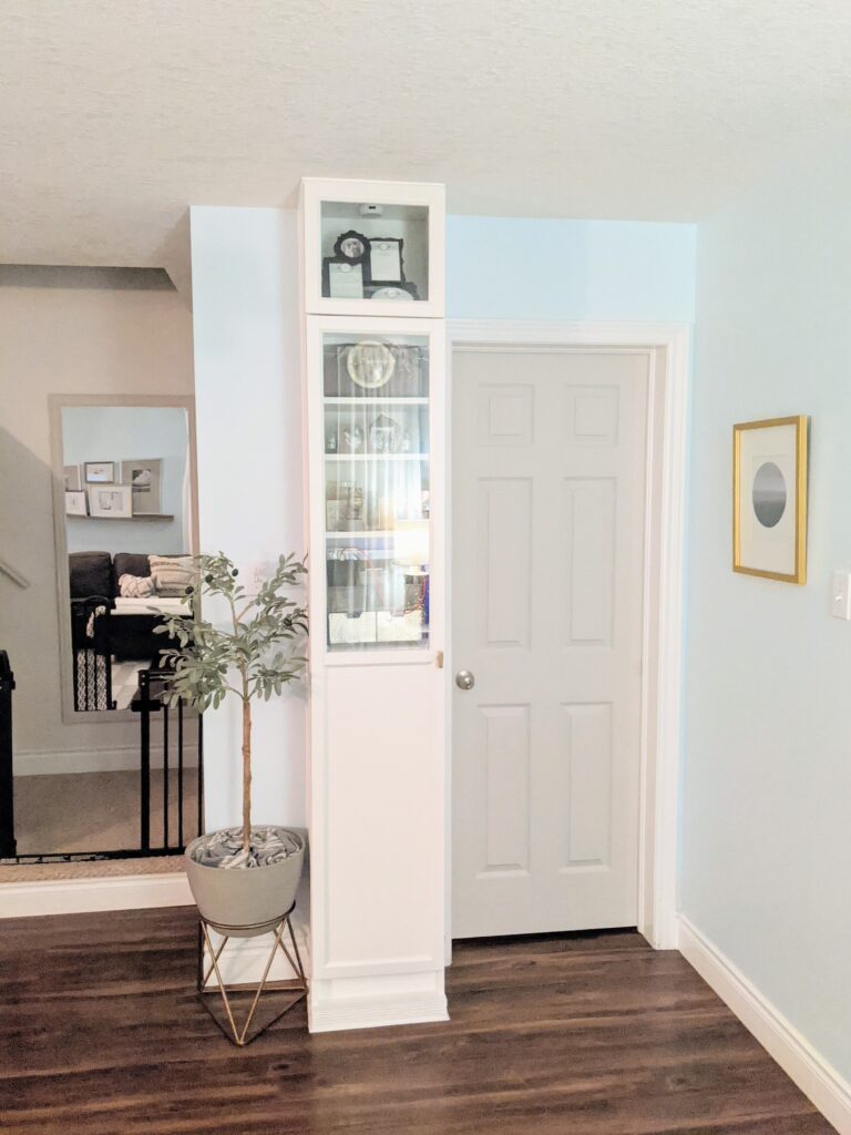 cabinet by powder room